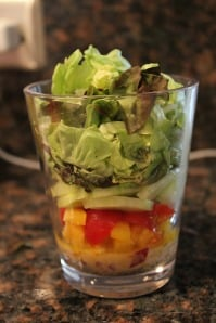 Individual Layered Salads