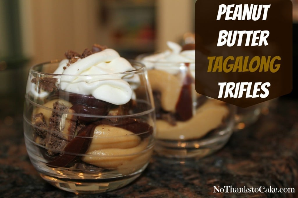 Peanut Butter Tagalong Trifles | No Thanks to Cake