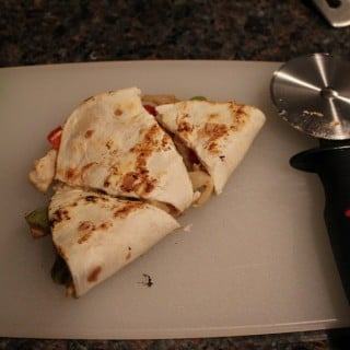 Jenny Craig Recipe Creation: Chicken Fajita Quesadillas