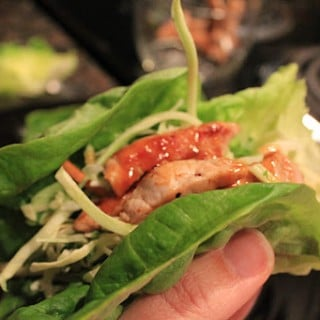 Hoisin-Lime Pork Lettuce Wraps