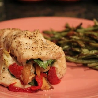 KG's Chicken Amore with Roasted Green Beans
