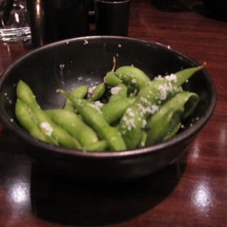 We started out with some yummy (and salty) edamame!  YUM!