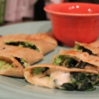 Spinach-Avocado Quesadillas