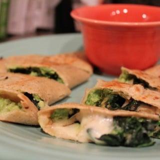Spinach-Avocado Quesadillas