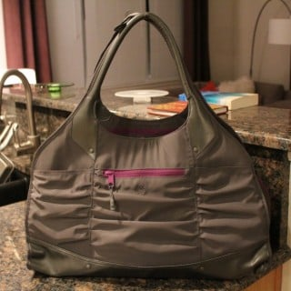 My Mom got me this cute gym bag from Athleta for my Birthday.  First time I've used it....