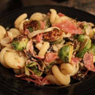 Pasta with Brussels Sprouts and Prosciutto