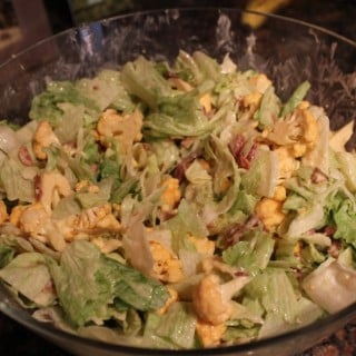 Bacon Cauliflower-Lettuce Salad