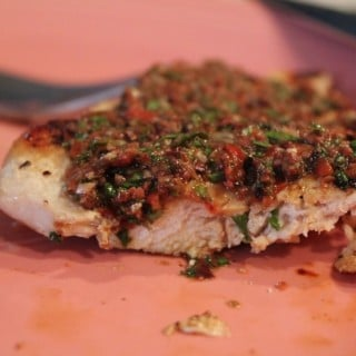 Grilled Chicken Paillard with Tapenade