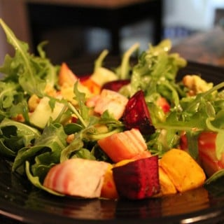 Beet-Avocado Arugula Salad