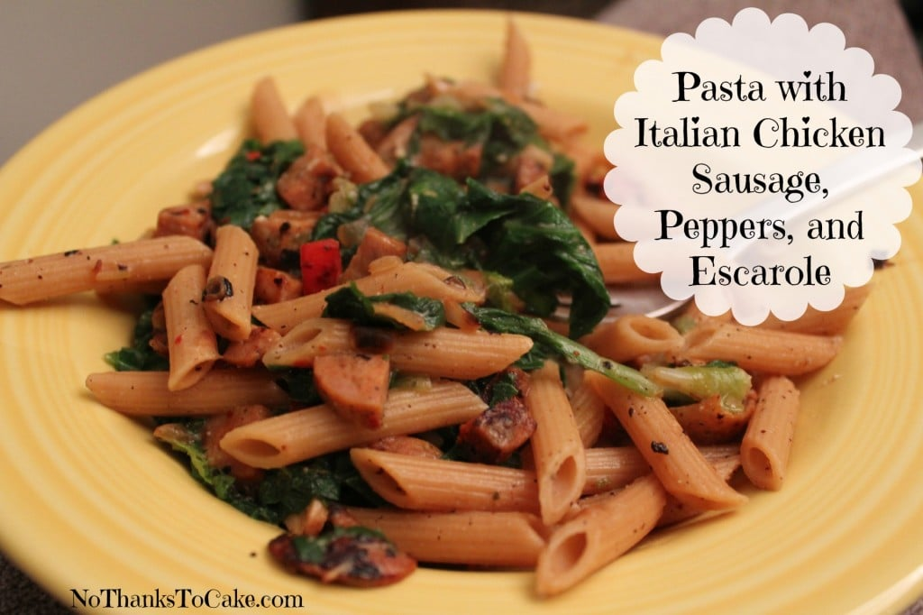 Pasta With Italian Chicken Sausage, Escarole And Beans ...