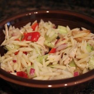 Lemon Orzo Salad with Chicken