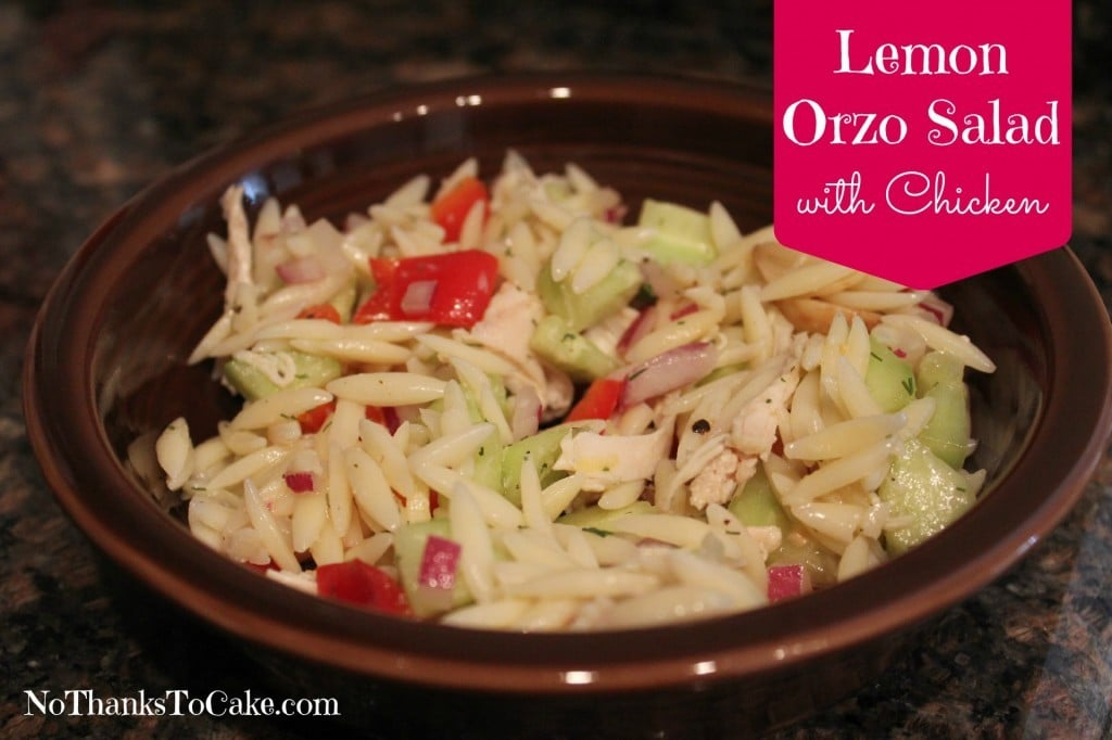 Lemon Orzo Salad with Chicken