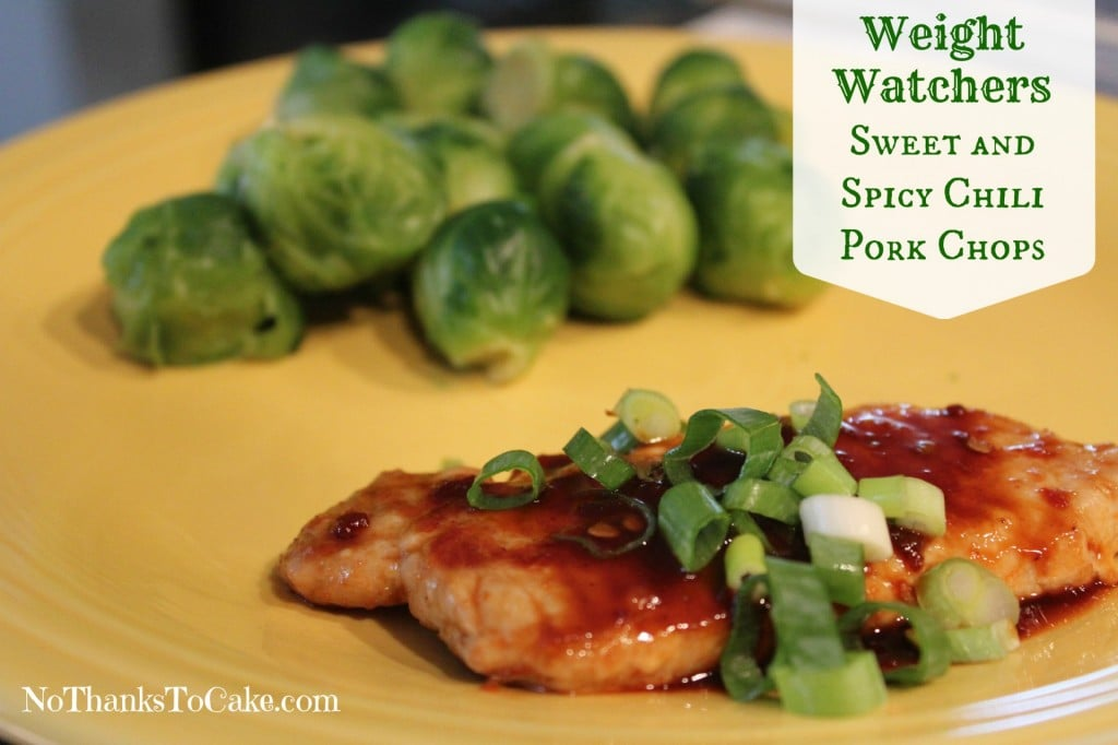 Weight Watchers Sweet & Spicy Pork Chops | No Thanks to Cake