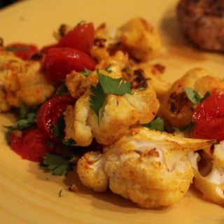 Roasted Turmeric Cauliflower and Tomatoes