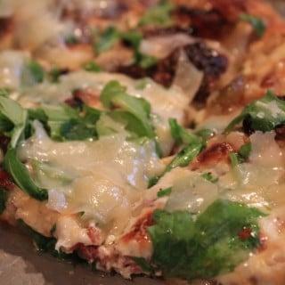 Fig-Prosciutto Pizza with White Truffle Oil