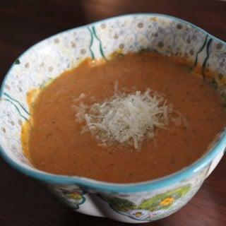 Slow Cooker Parmesan-Tomato Basil Soup