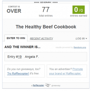 Healthy Beef Cookbook Winner Announced