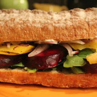 Roasted Beet Sandwich with Greek Yogurt Aioli