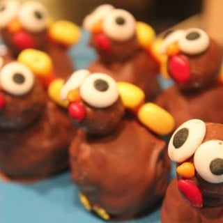 Pumpkin Spice Cake Ball Turkeys