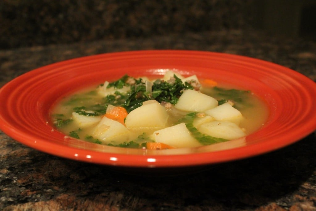Turkey Sausage, Kale, and Potato Soup - No Thanks to Cake