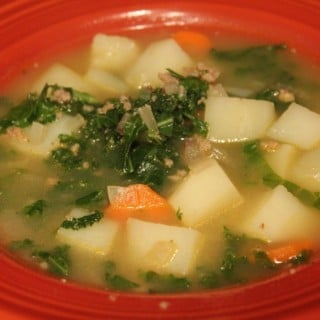 Turkey Sausage Kale and Potato Soup