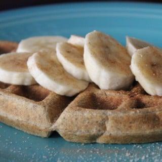 Healthy Banana Cinnamon Waffles