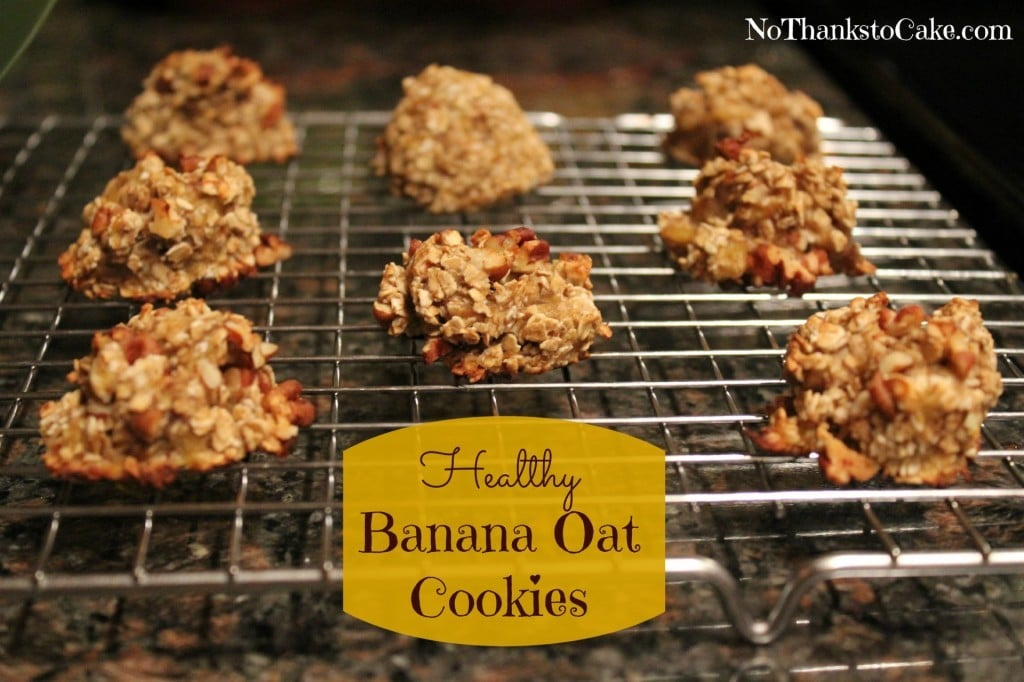 Healthy Banana Oat Cookies | No Thanks to Cake