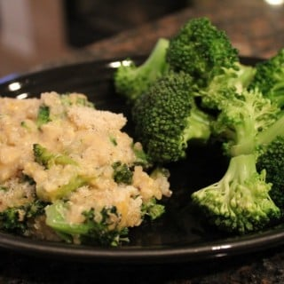 Broccoli Cheese Quinoa Casserole