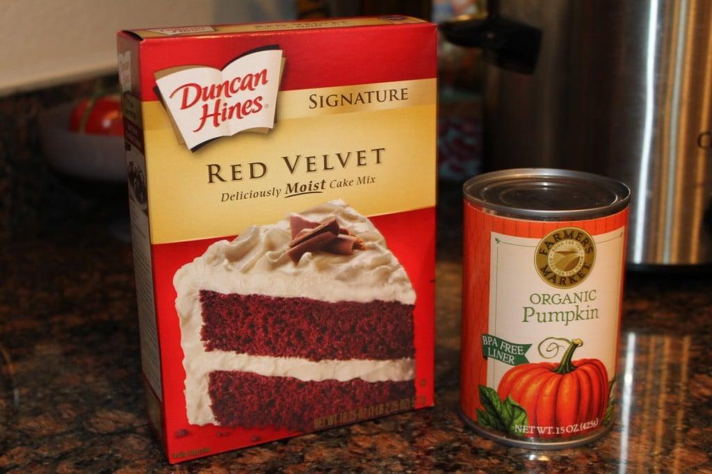 Red Velvet Pumpkin Muffins