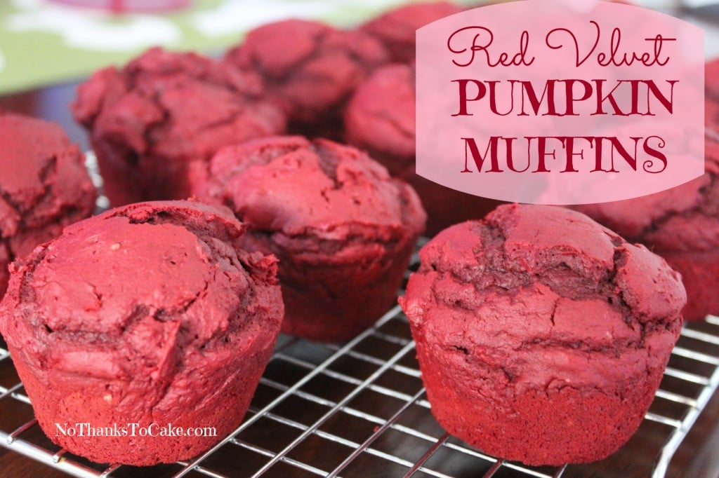 Red Velvet Pumpkin Muffins | No Thanks to Cake