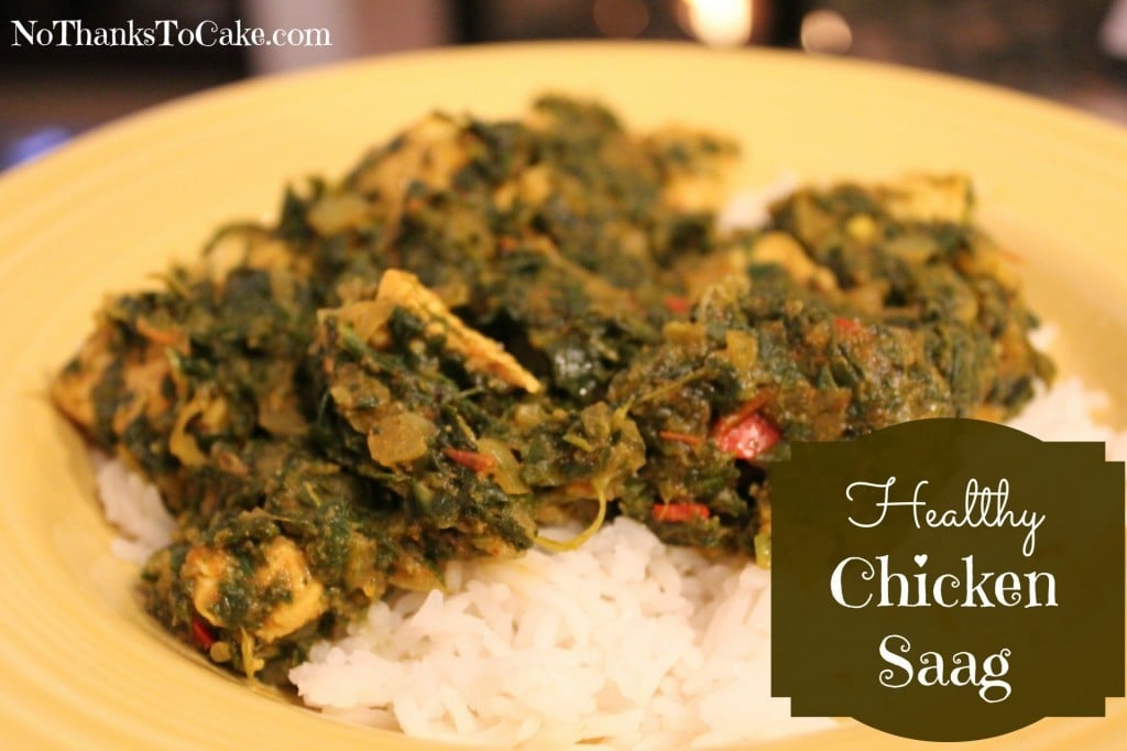 Healthy Chicken Saag | No Thanks to Cake