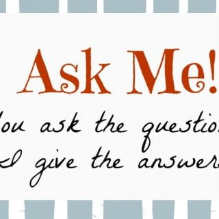 Ask Me:  Random Question Edition | No Thanks to Cake