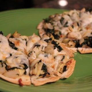 Jenny Craig Recipe Creation:  Chicken Spinach & Artichoke Pizzas