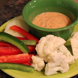 Roasted Red Pepper Veggie Dip
