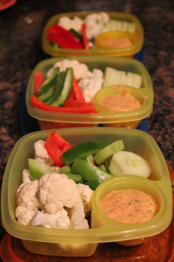 Container Store Veggies and Dip Containers | No Thanks to Cake