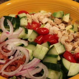 Lightened Up Chicken Cobb Salad