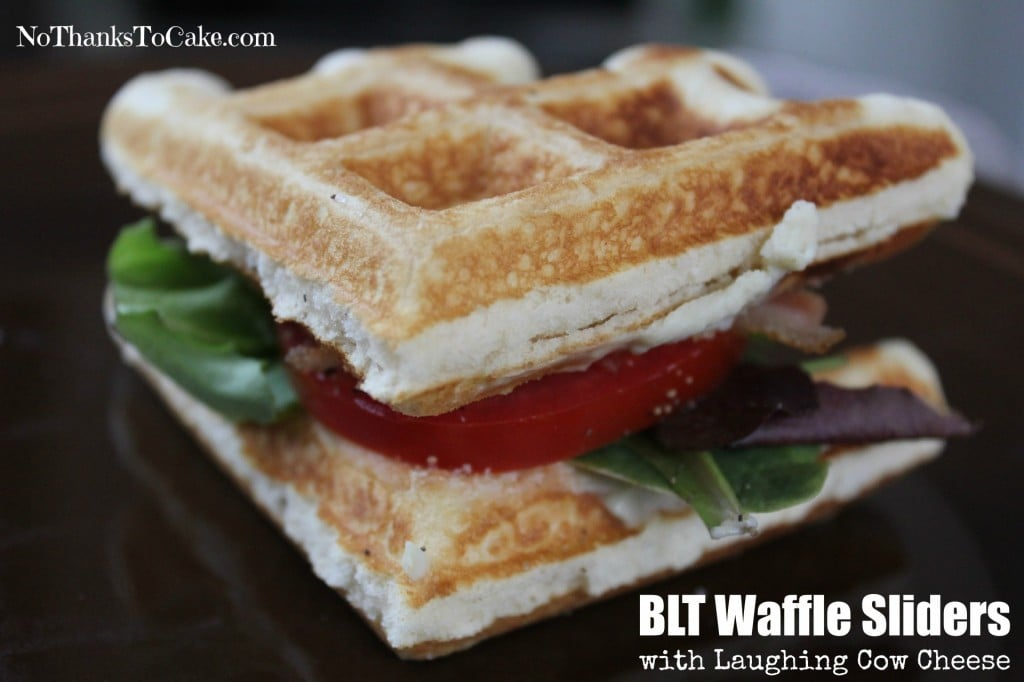 BLT Waffle Sliders with Laughing Cow Cheese | No Thanks to Cake