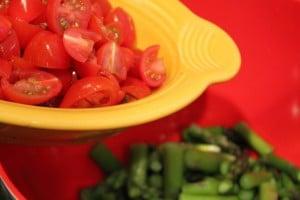 Lemon Asparagus Couscous Salad with Tomatoes