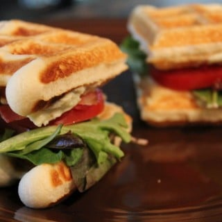 BLT Waffle Sliders with Laughing Cow Cheese