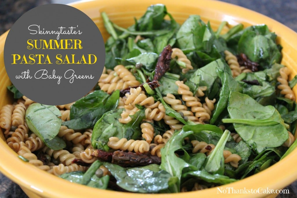 Summer Pasta Salad with Baby Greens | No Thanks to Cake