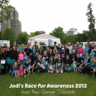 Jodi's Race for Awareness | No Thanks to Cake
