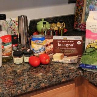 Weight Watchers Gruyere-Spinach Lasagna for One