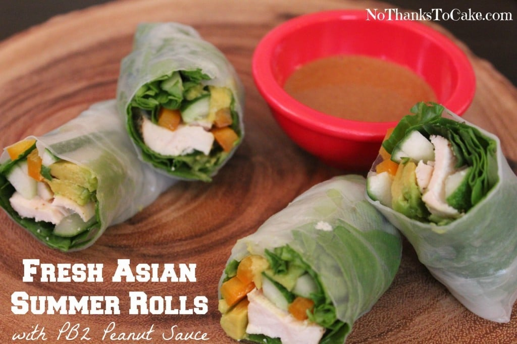 Fresh Asian Summer Rolls with PB2 Peanut Sauce