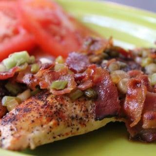 Sauteed Chicken with Scallion-Bacon Vinaigrette