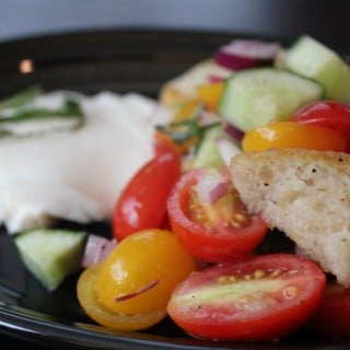 Heirloom Tomato Panzanella | No Thanks to Cake