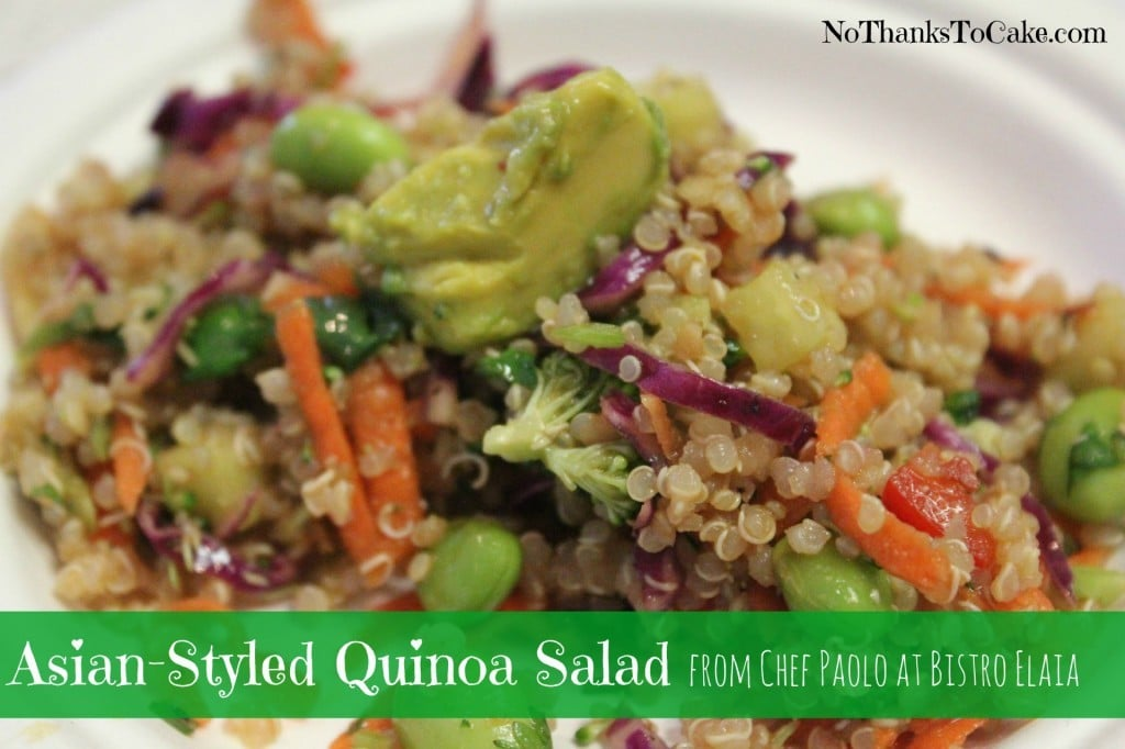 Asian-Styled Quinoa Salad | No Thanks to Cake