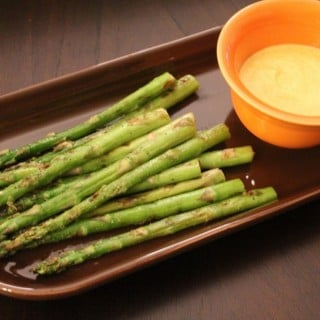 Grilled Asparagus with Yogurt Curry Sauce | No Thanks to Cake