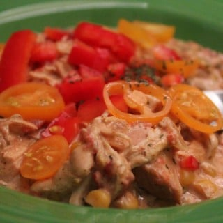 Slow Cooker Creamy Chicken Chili