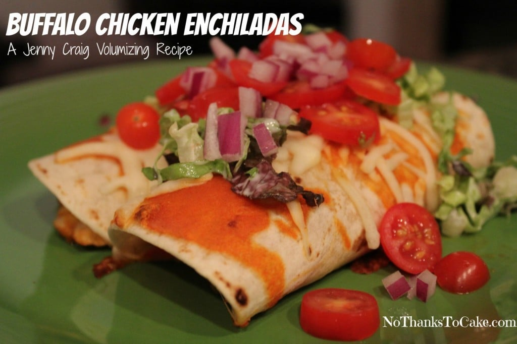Buffalo Chicken Enchiladas | No Thanks to Cake