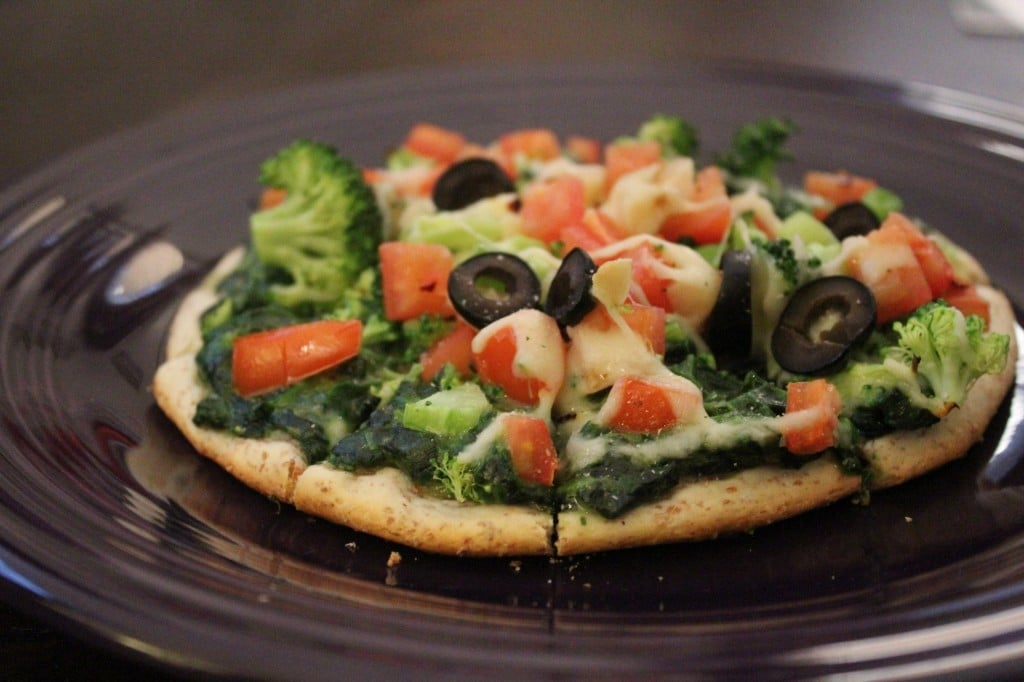 Creamed Spinach and Veggie Grands Pizza | No Thanks to Cake